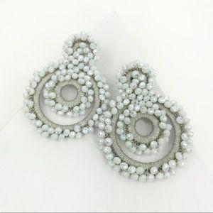 CLOSET REHAB Jewelry - Boho Beaded Drop Earrings in Gray